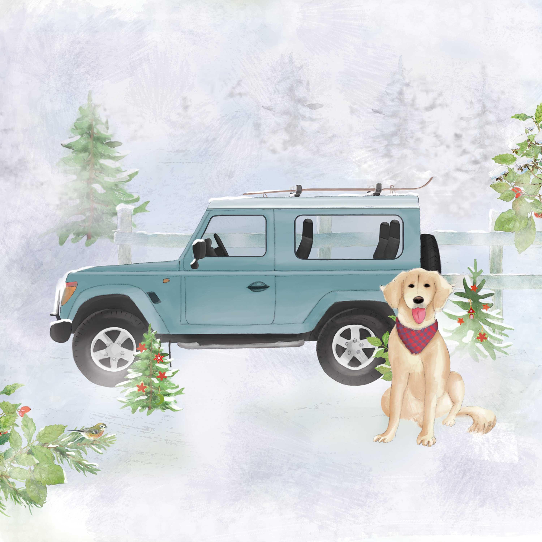 Holiday Jeep Napkin 33x33