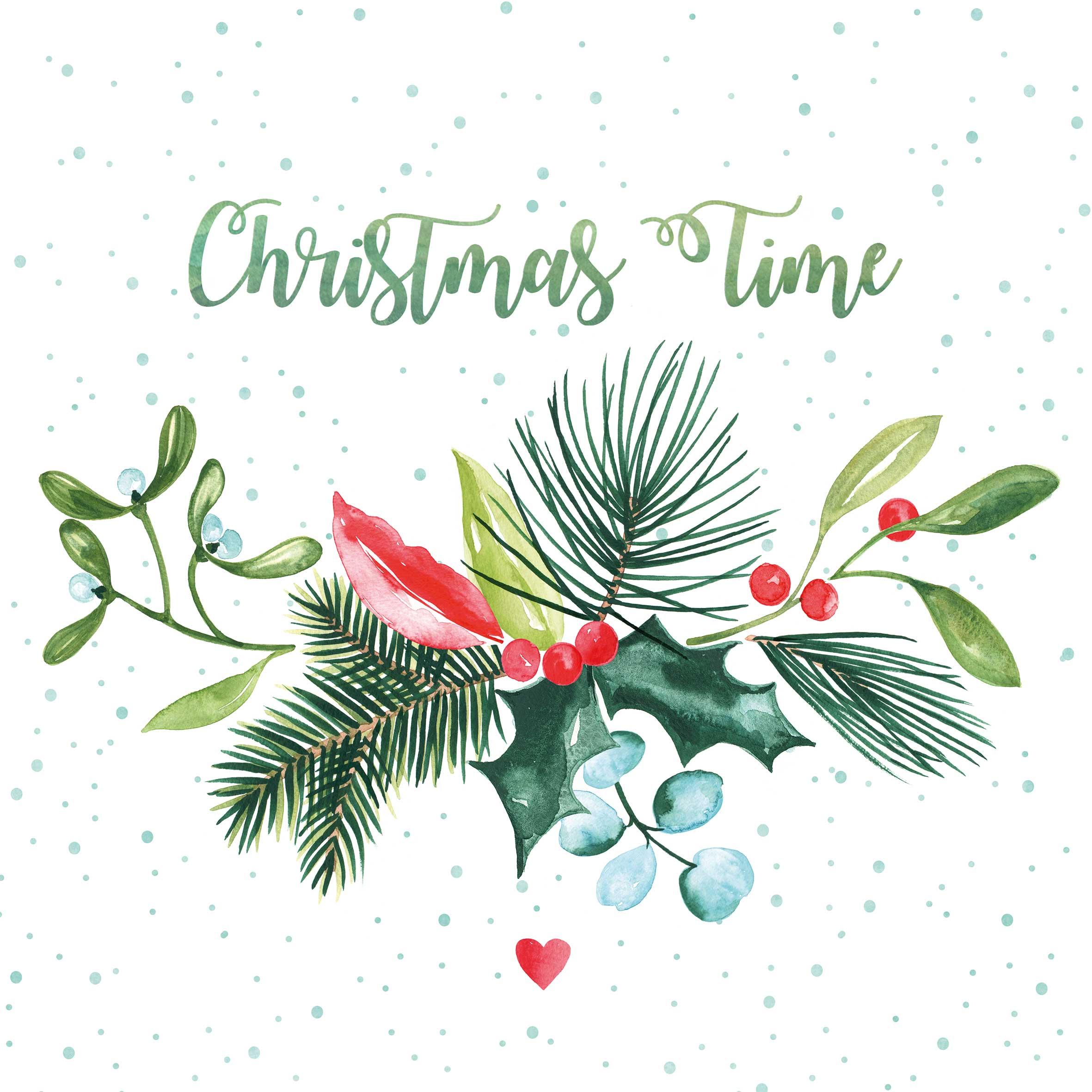 Christmas Time Napkin 25x25