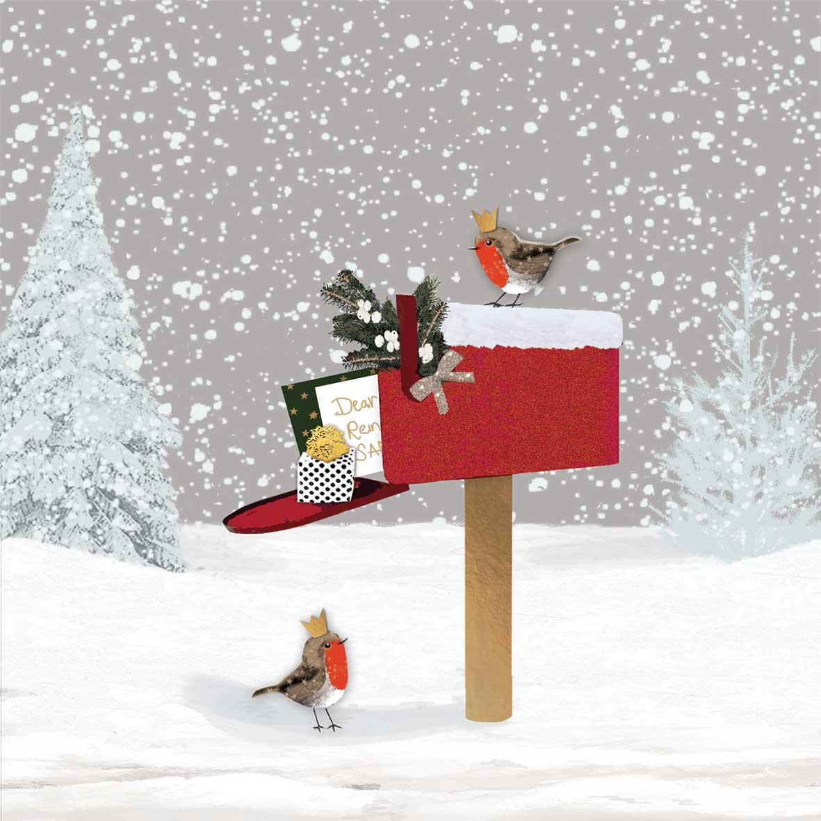 Winter Mail Napkin 33x33