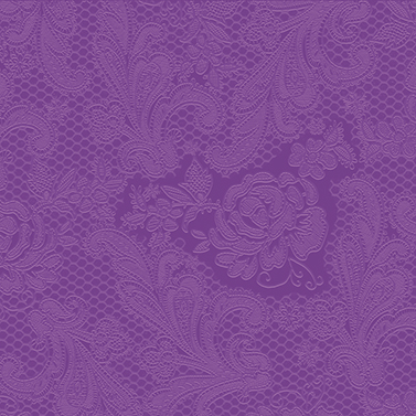 Lace embossed purple  33x33