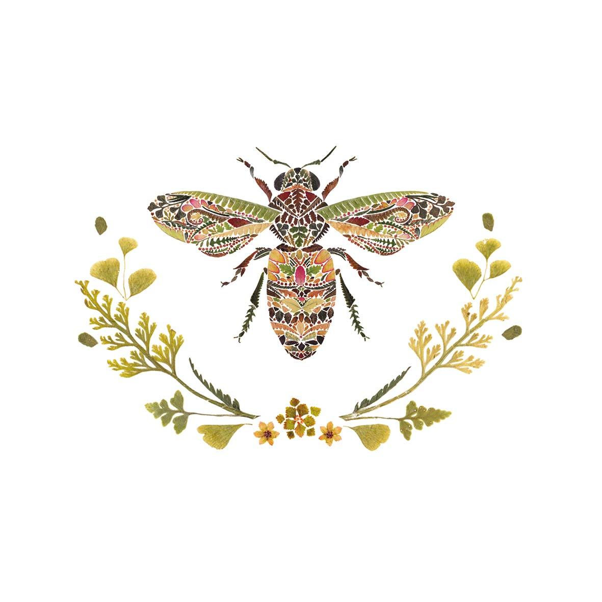 Green Bee Napkin 25x25