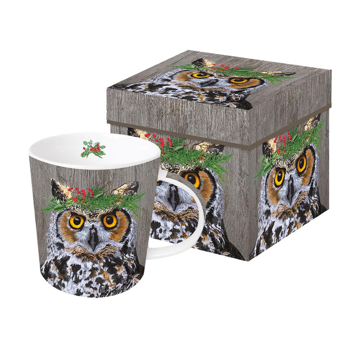 Winter Berry Owl Trend Mug GB