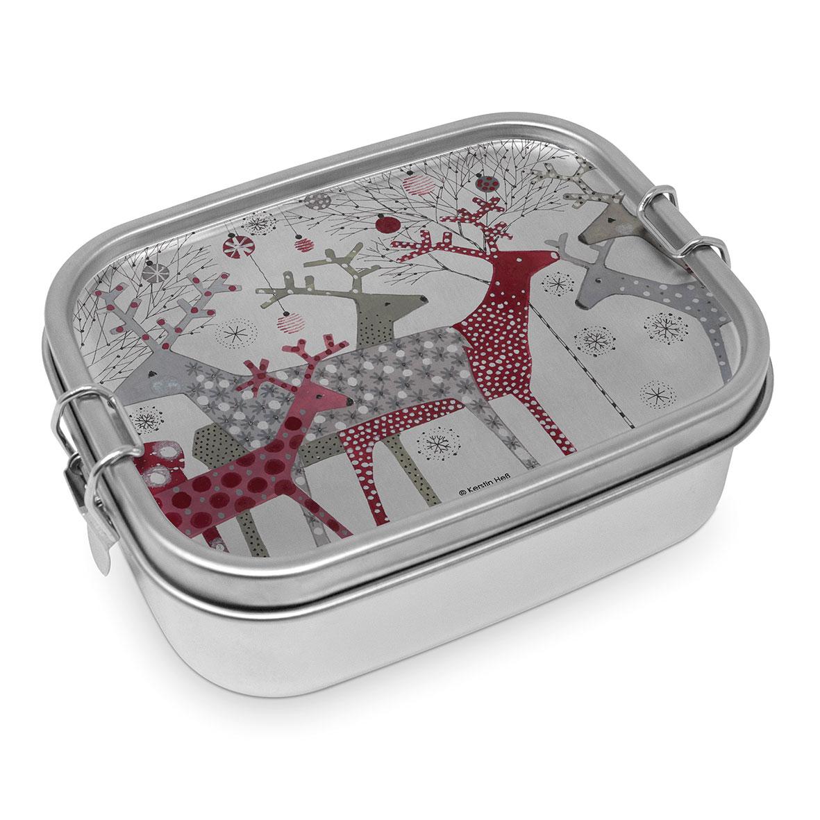 Scandic Christmas Steel Lunch Box