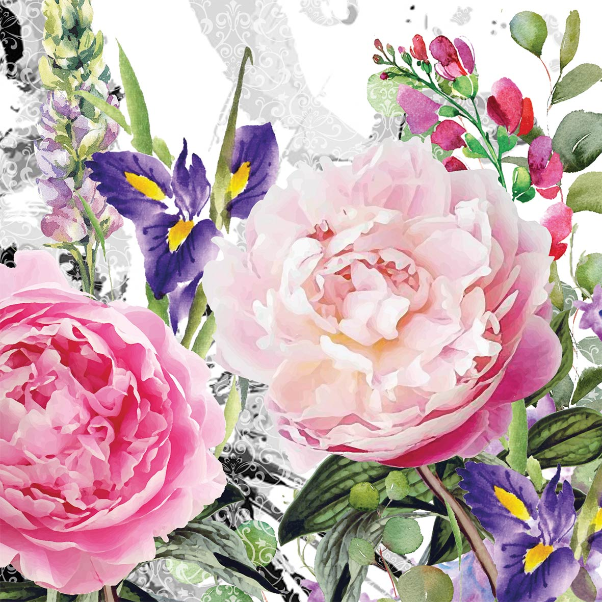 Jardin des roses Napkin 25x25