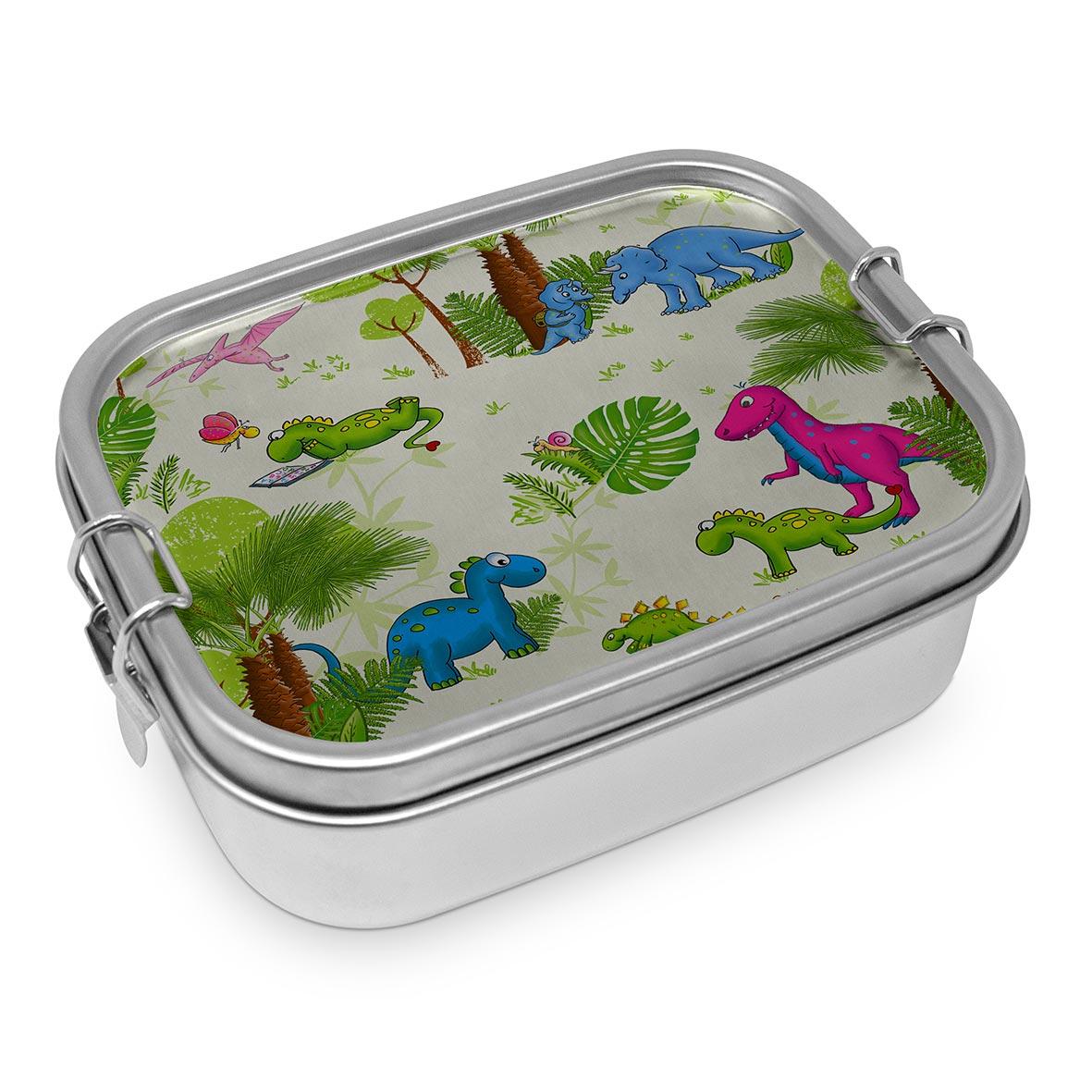 Dinos Steel Lunch Box