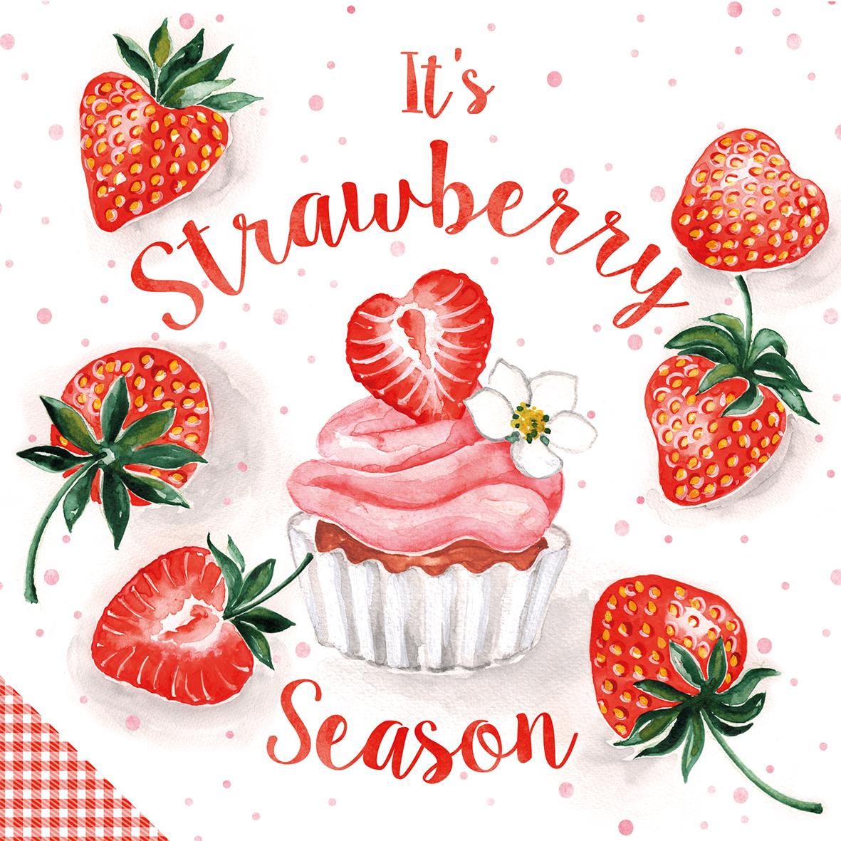 Strawberry Season 33x33 cm
