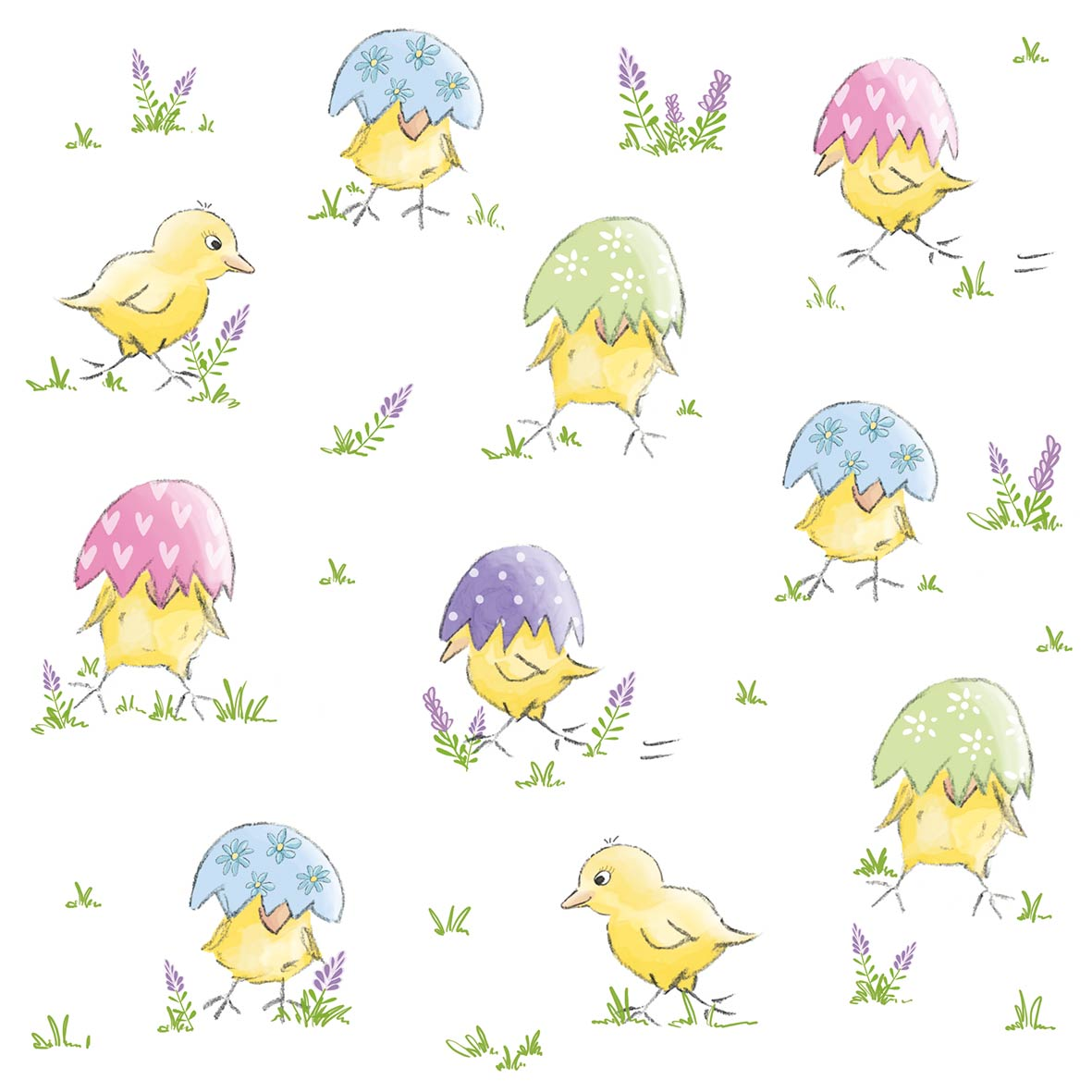 Easter Chick Napkin 33x33