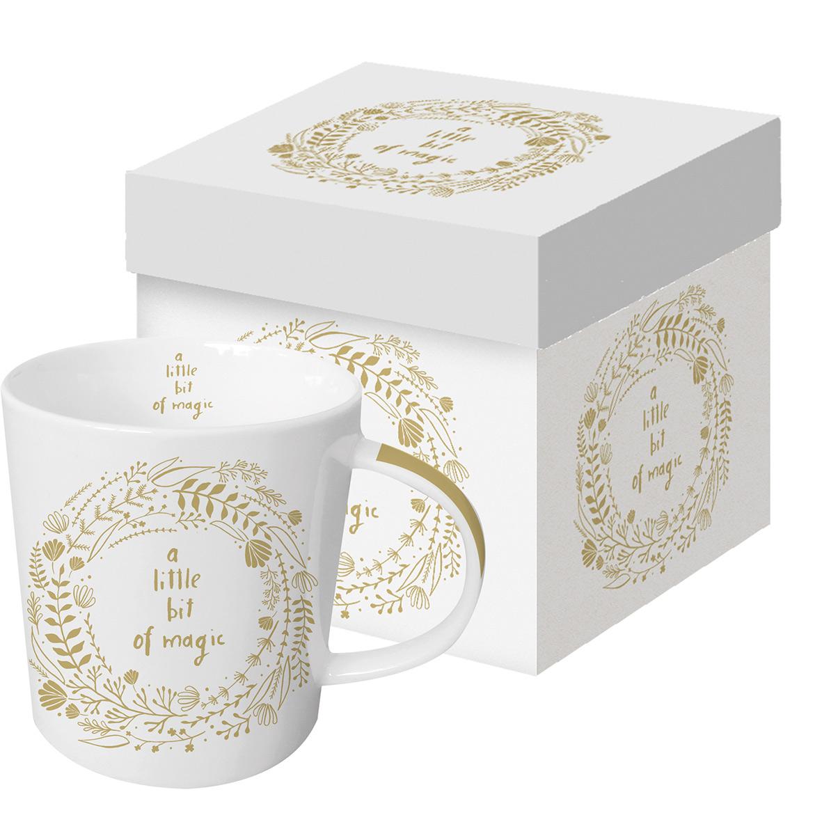 Magic white Real Gold Trend Mug GB