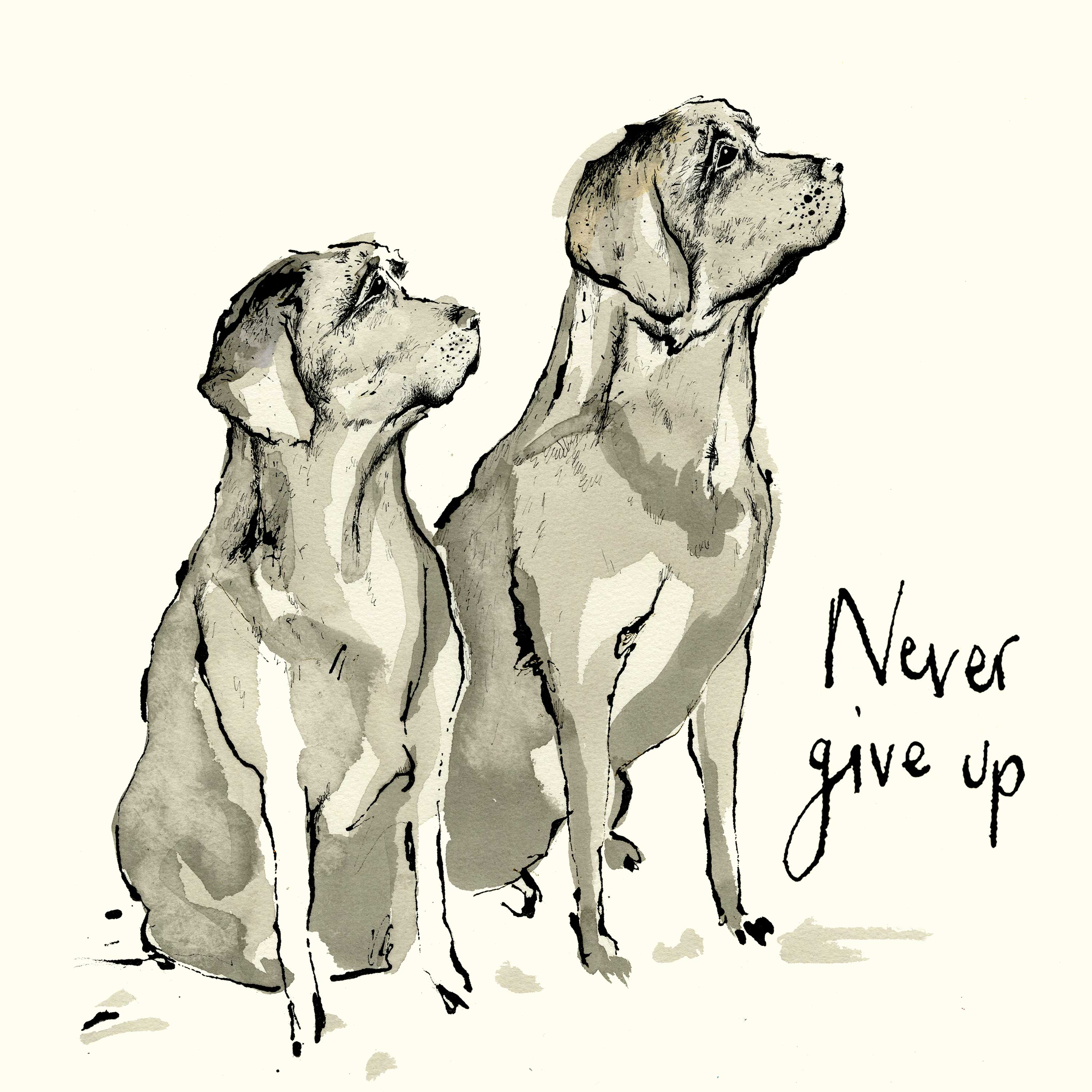 Never give up Napkin 33x33