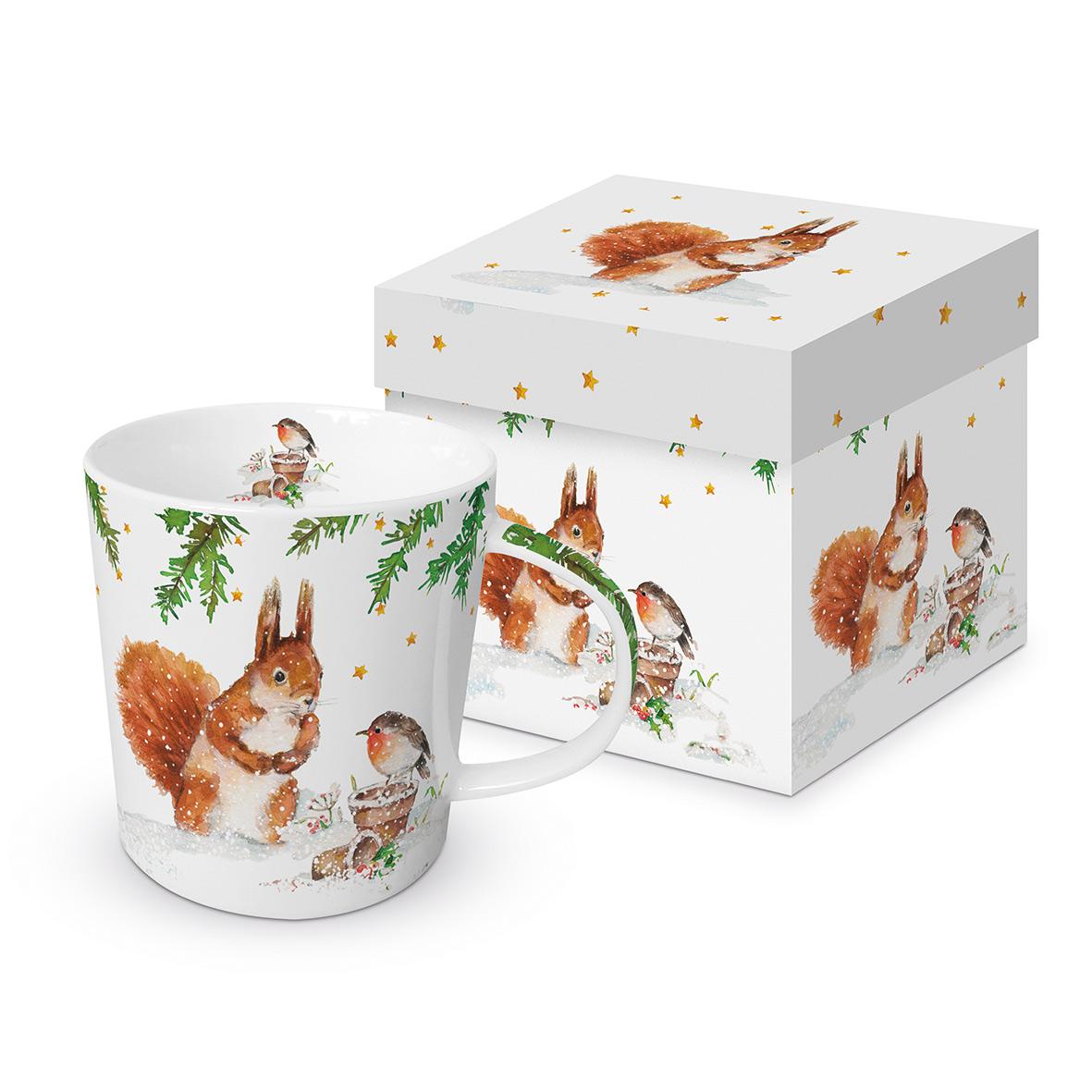 Squirrel & Robin Trend Mug GB