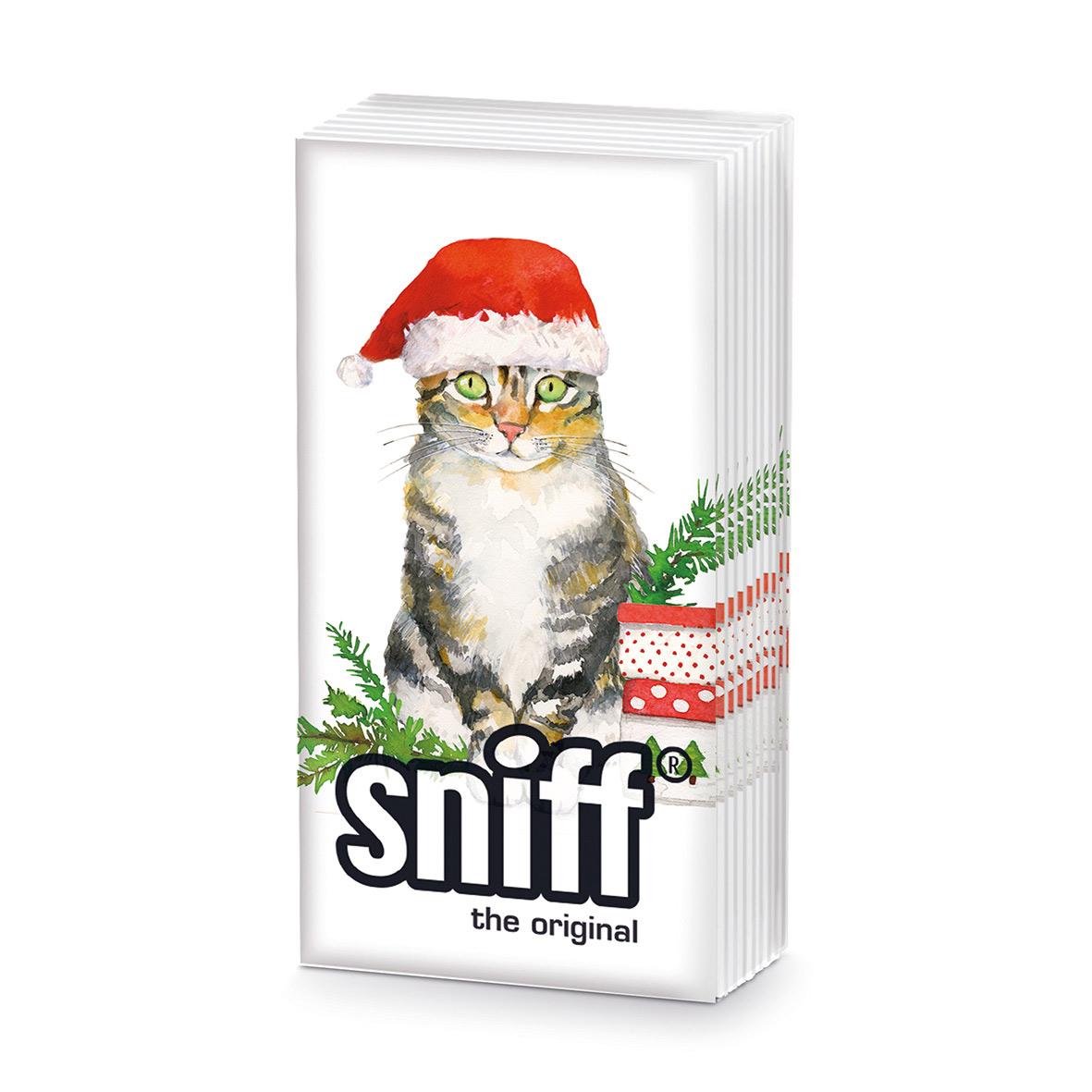 Christmas Kitty HandkerchiefSniff