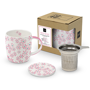Mug Lid & Strainer cardboard Pretty in Rosé