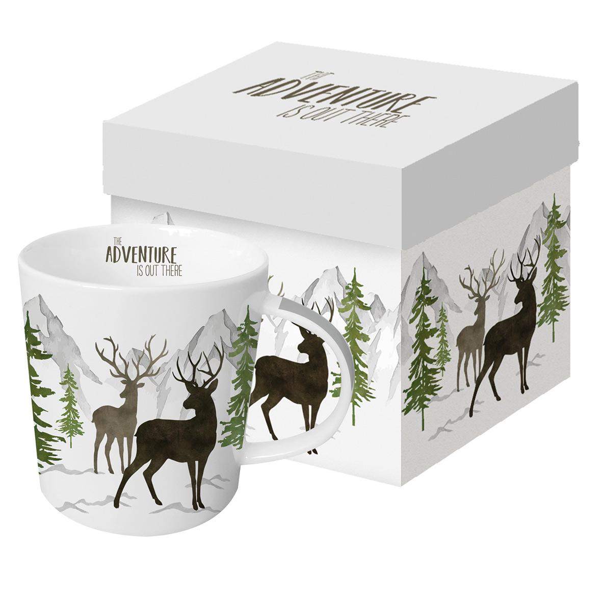 Adventure Deer white Trend Mug GB