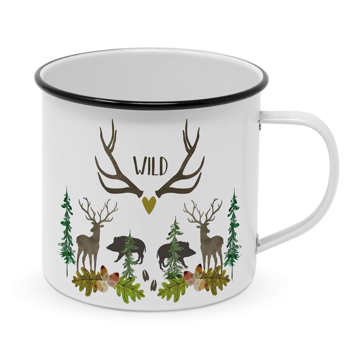 Wild Happy Metal Mug