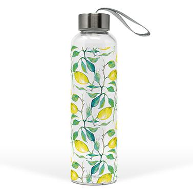 Glass Bottle Beautiful Lemons