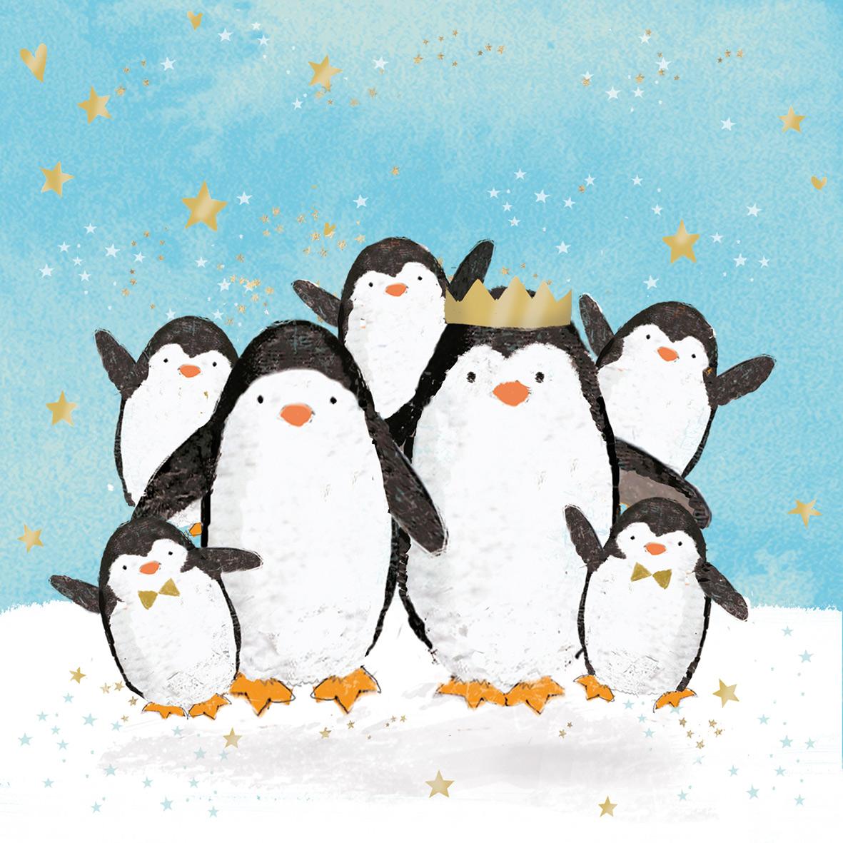 Penguin Family Napkin 33x33