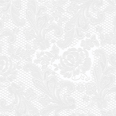Lace embossed pearl 25x25 cm