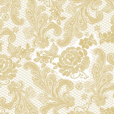 Lace Royal pearl gold 33x33 cm