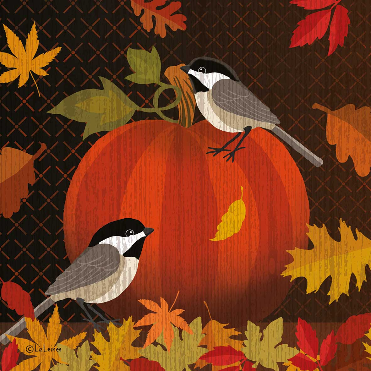 October Pumpkin Napkin 25x25