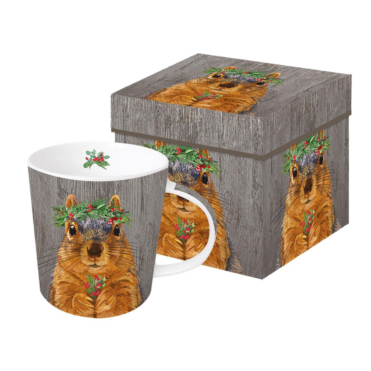 Winter Berry Squirrel Trend Mug GB