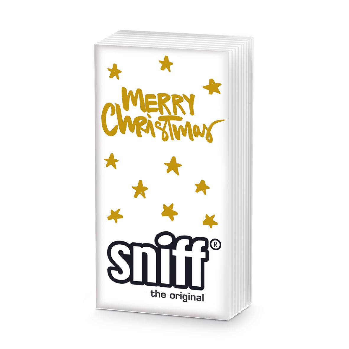 Merry Christmas gold HandkerchiefSniff