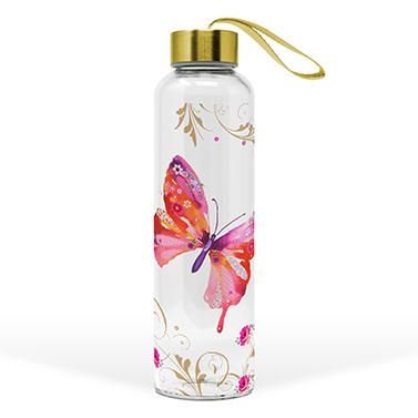 Glass Bottle Pretty Butterfly