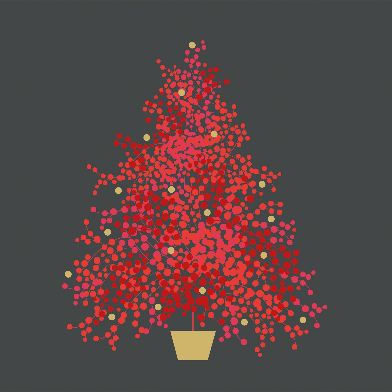 Season´s Tree grey Napkin 33x33