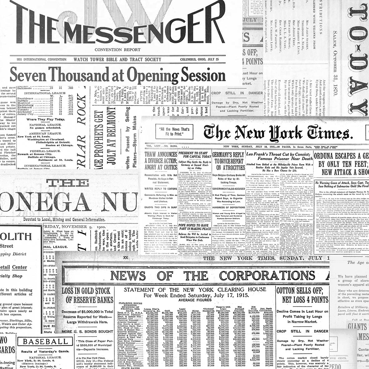 The Messenger 33x33 cm