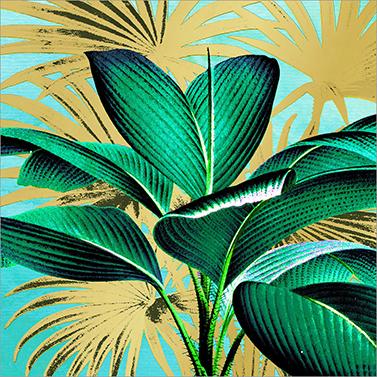 Tropical Leaves 33x33 cm