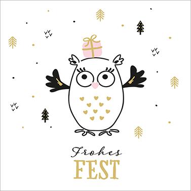 Frohes Fest 33x33 cm