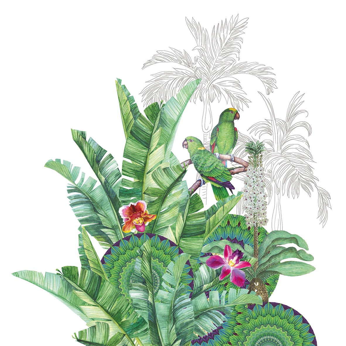 Tropicale Napkin 25x25