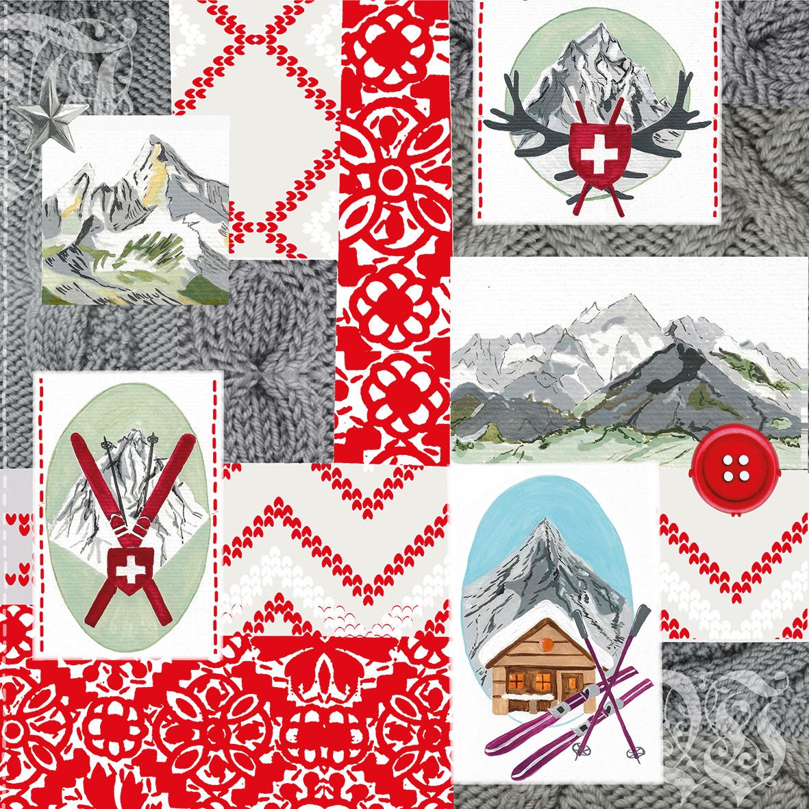 Alpine Patchwork Napkin 33x33