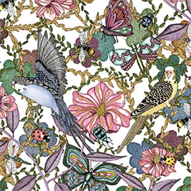 Birds & Flowers 33x33 cm