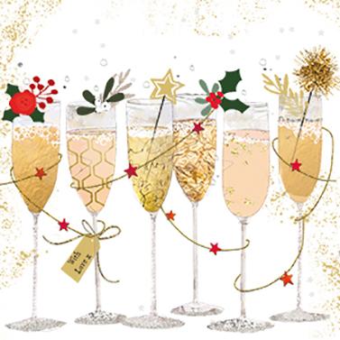 Champagne Glasses 33x33 cm