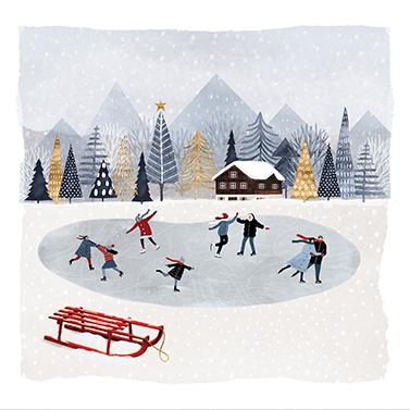Mountain Skating 33x33 cm