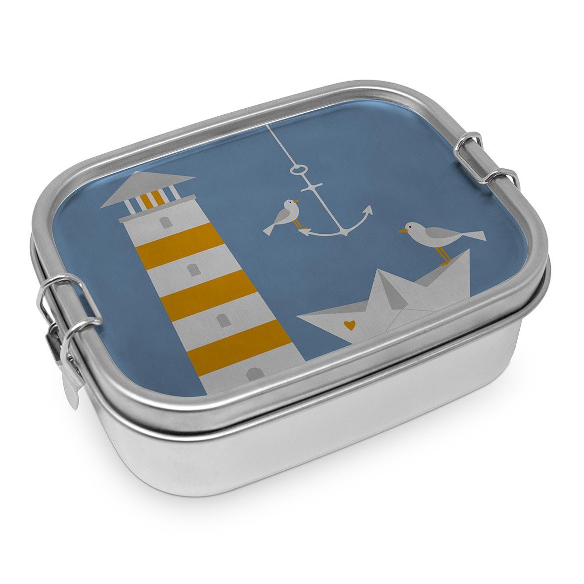 Beach Lighthouse Steel Lunch Box