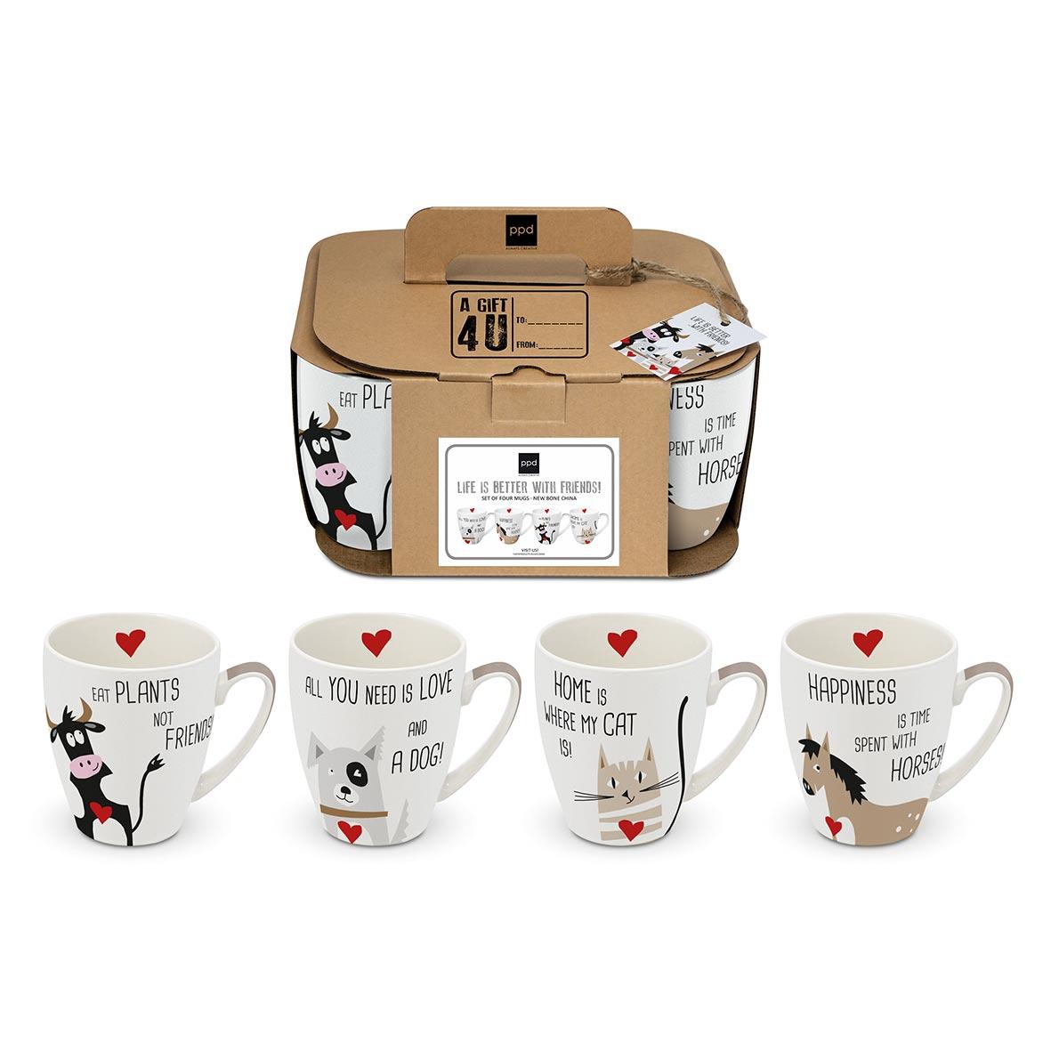 With Friends 4 Mug Set