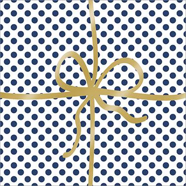 Cadeau Deluxe Dots blue 33x33 cm