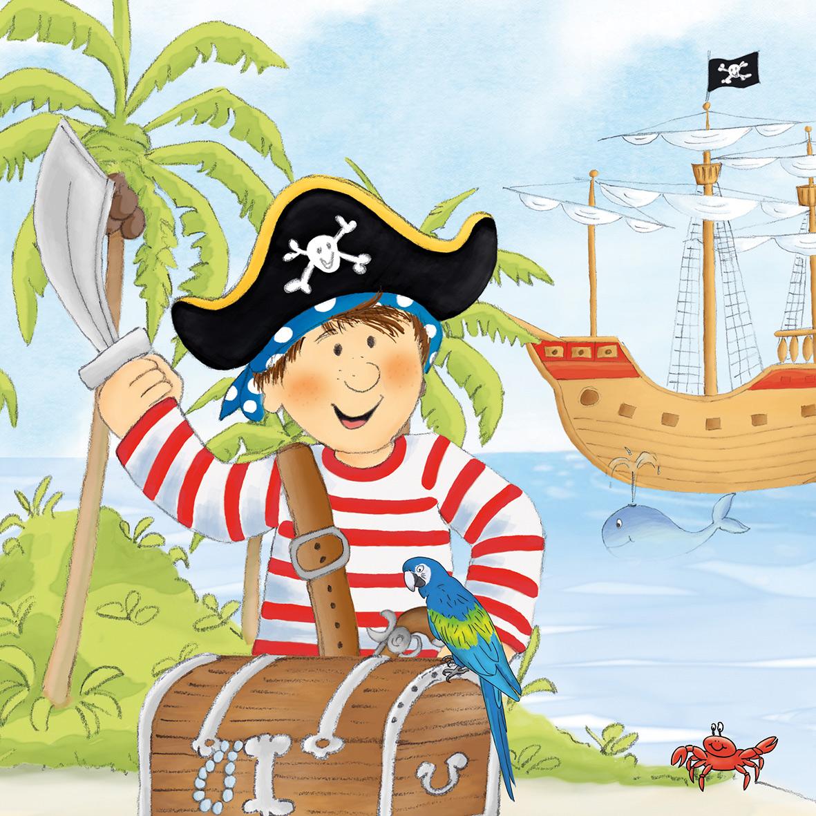 Pirate Napkin 33x33
