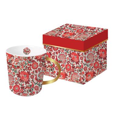 Trend Mug GB Pavone rosso real gold