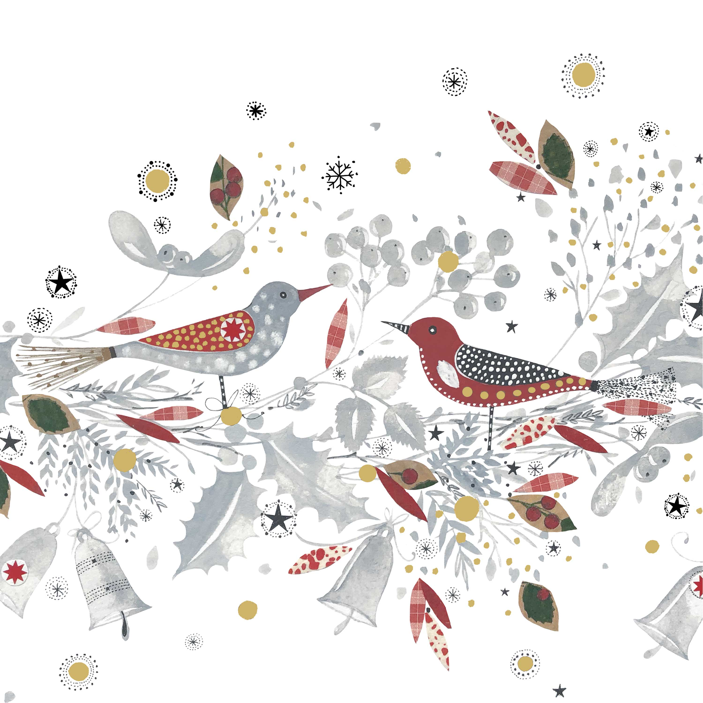 Christmas Birds Napkin 33x33
