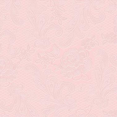 Lace embossed femme rose 33x33cm