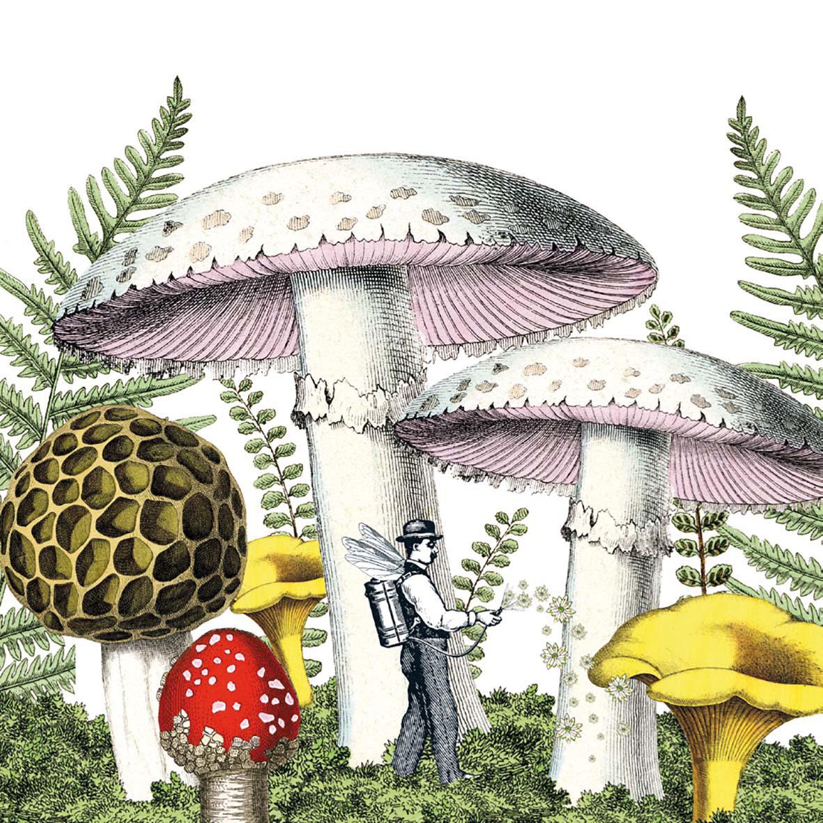 Mushrooms Napkin 33x33