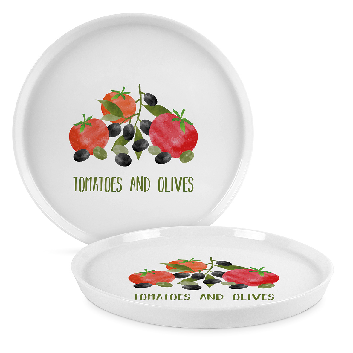 Tomatoes & Olives Trend Plate 21