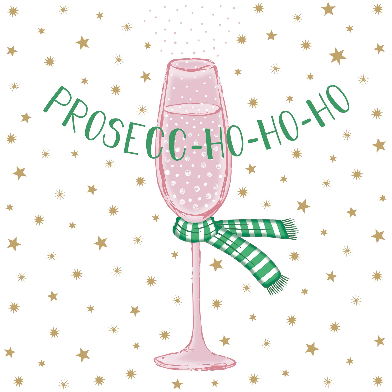 Prosecco-Ho-Ho Napkin 33x33