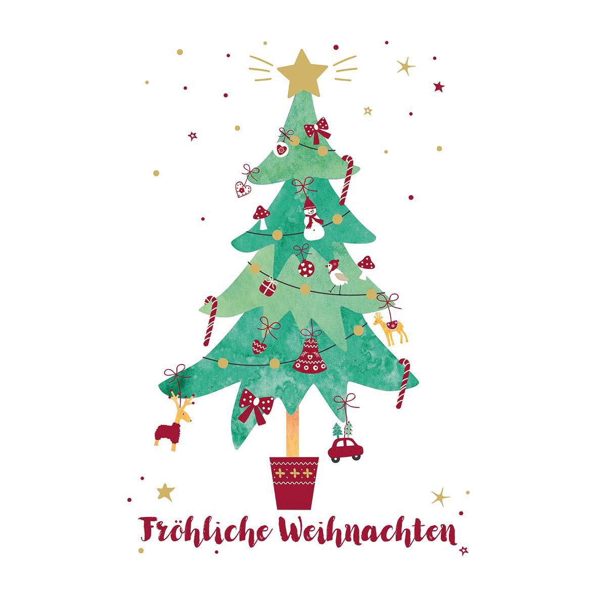 Fröhliche Weihnachten Napkin 33x33