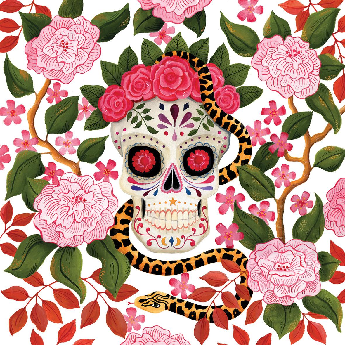 Skull Napkin 33x33