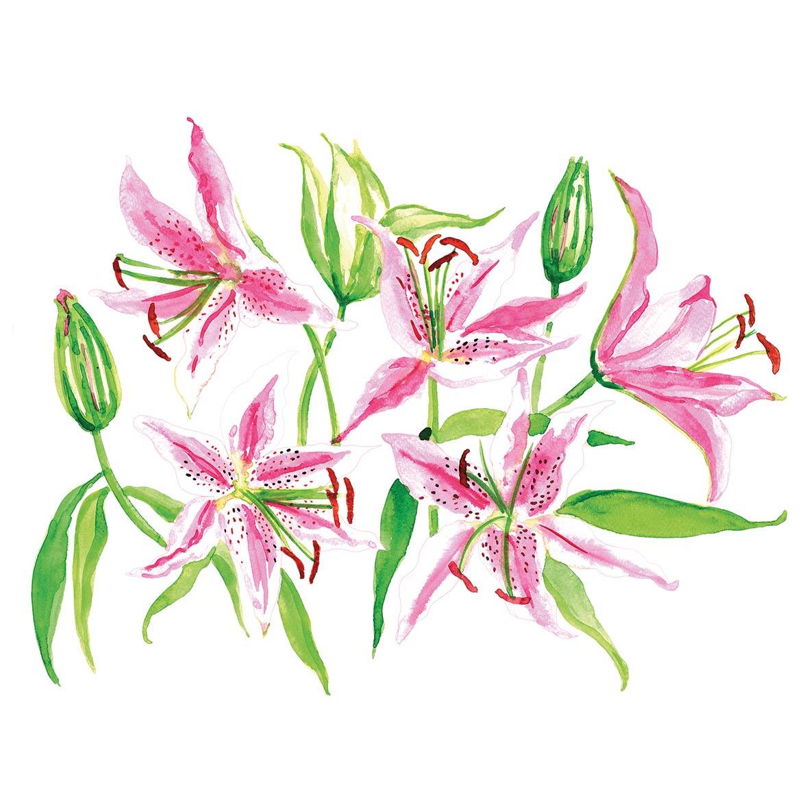 Stargazer Lilies Napkin 25x25