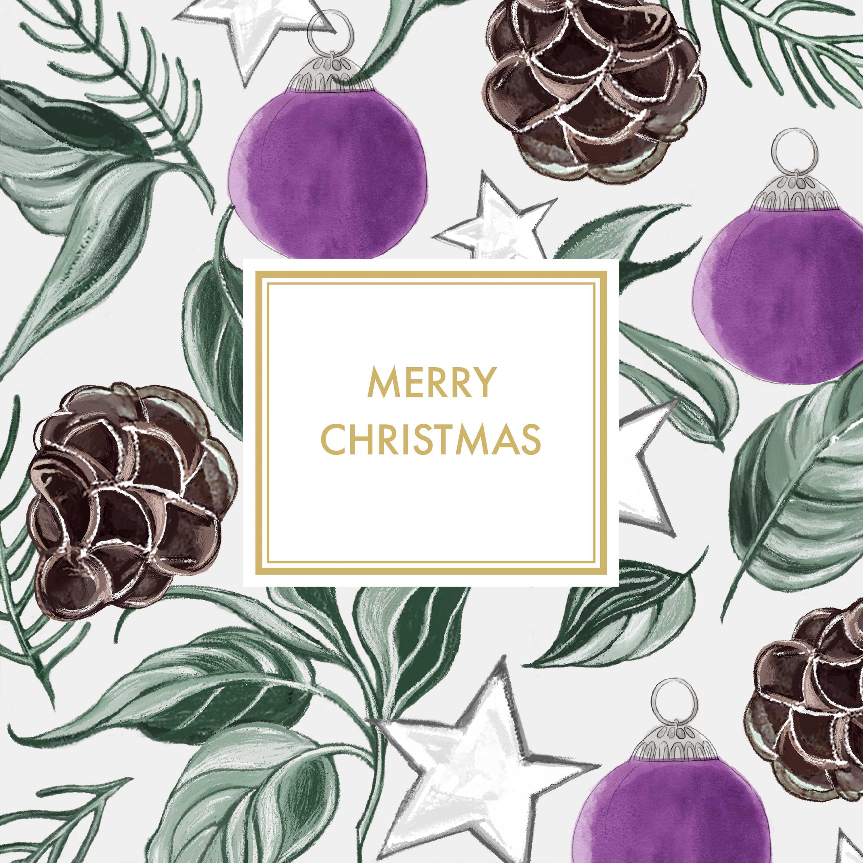Christmas Sentiment Napkin 33x33