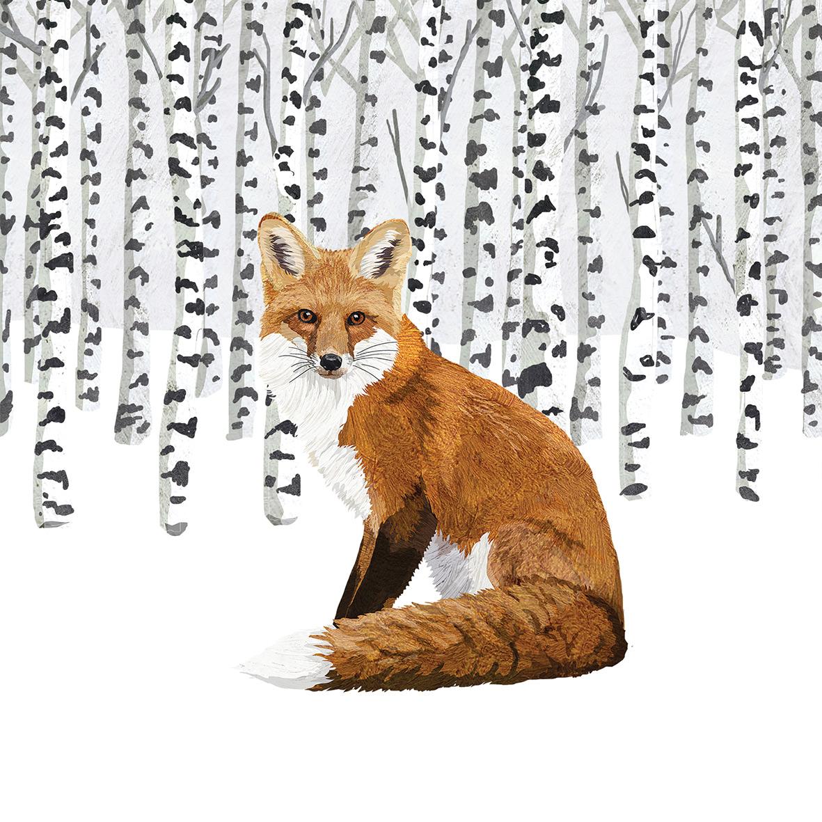 Wilderness Fox Napkin 33x33